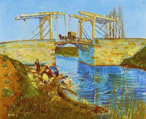 Most Langlois w Arles z piorącymi kobietami