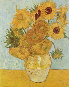 Martwa natura: wazon z dwunastoma słonecznikami