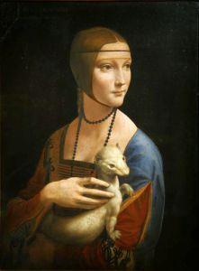 Portret damy z gronostajem