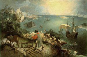Pieter Bruegel (starszy) - Pejzaż z upadkiem  Ikara